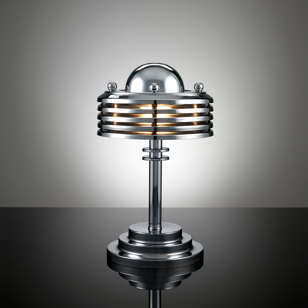 Silver Art Deco Table Lamp